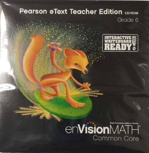 9780328702558: enVision Math Common Core, Pearson eText Teacher Edition, Grade 6
