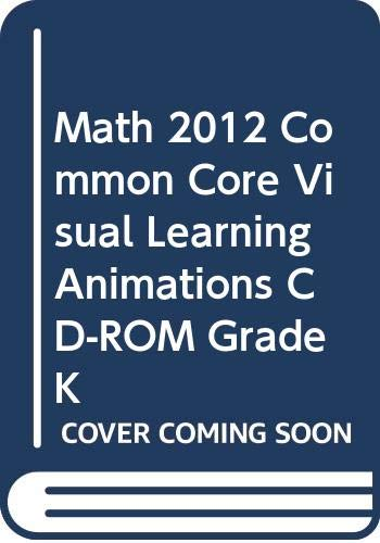 9780328702565: enVision Math 2012 Common Core Visual Learning Animations Cd-rom Grade K