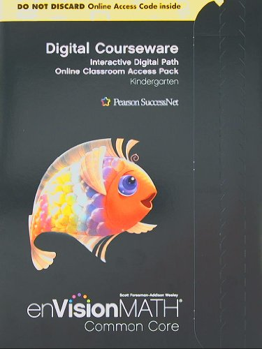 9780328702848: Envision math Digital Courseware: Interactive Digital Path Online Classroom Access Pack, Grade K