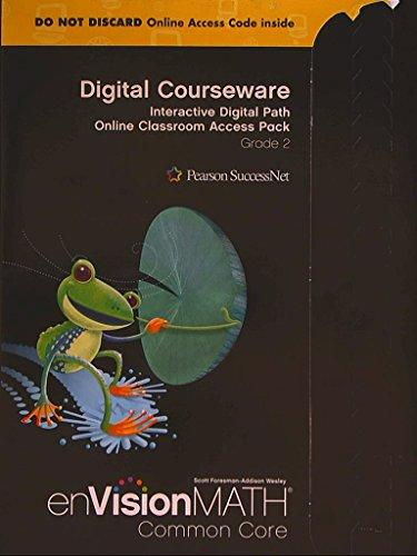 9780328702862: enVision Math Common Core; Digital Courseware: Interactive Digital Path Online Classroom Access Pack Grade 2