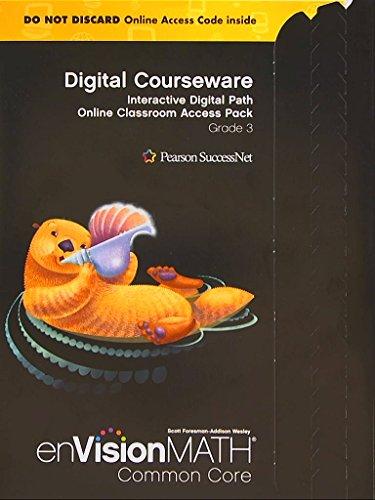 9780328702879: enVision Math Common Core Digital Courseware, Interactive Digital Path Online Classroom Access Pack, Grade 3