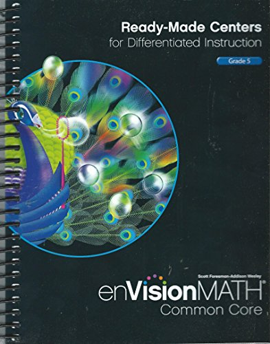 enVisionMath Common Core Ready Made Center TE grd 5: Pearson