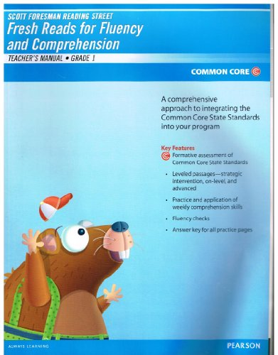 9780328726356: Reading Street Fresh Reads for Fluency and Comprehension Teacher's Manual Grade 1