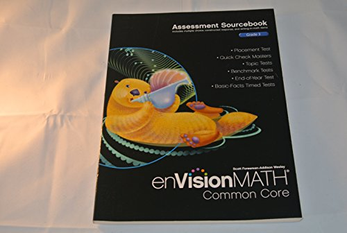 9780328731343: enVision Math Common Core Assessment Sourcebook Grade 3 (Envision Math Common Core)