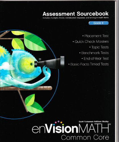9780328731350: Assessment Sourcebook; Grade 4 (enVisionMath Common Core)