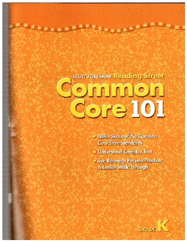 Reading Street Common Core 101 Grade K: Pearson