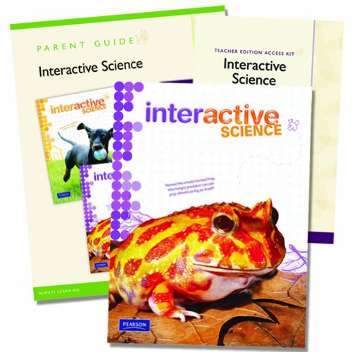 9780328748662: Interactive Science Homeschool Edition, Grade 5 with Teacher Edition Access Kit [With Parent Guide]