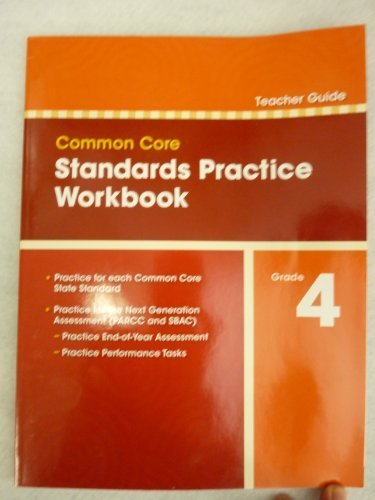 9780328756940: Pearson Common Core Standards Practice Workbook Grade 4 TEACHER GUIDE (2012-05-03)