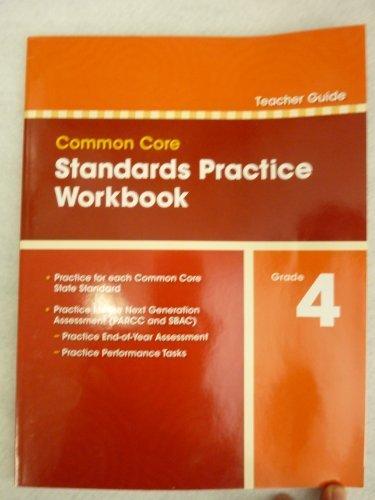 9780328756940: Pearson Common Core Standards Practice Workbook Grade 4 TEACHER GUIDE