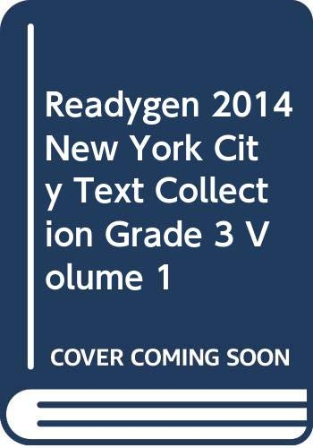 9780328788446: READYGEN 2014 NEW YORK CITY TEXT COLLECTION GRADE 3 VOLUME 1