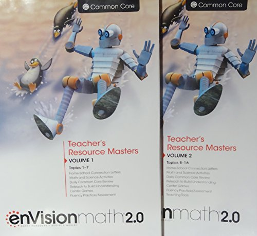 9780328827725: enVisionmath2.0 - 2016 Common Core Teacher's Resource Masters Volume 1 & 2 Grade 3