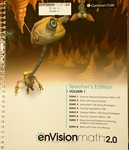 9780328827794: enVisionmath2.0 - 2016 Common Core Teacher Edition Volume 1 Grade 2