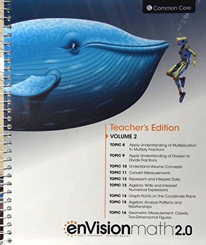 9780328827886: enVisionmath2.0 - 2016 Common Core Teacher's Edition Volume 2 Grade 5