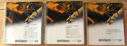 9780328828036: enVisionMATH 2.0 Math 2016 Common Core Teacher Edition Package Grade 6 (Contains 2-volume Teacher's Edition and Teacher's Edition Program Overview)