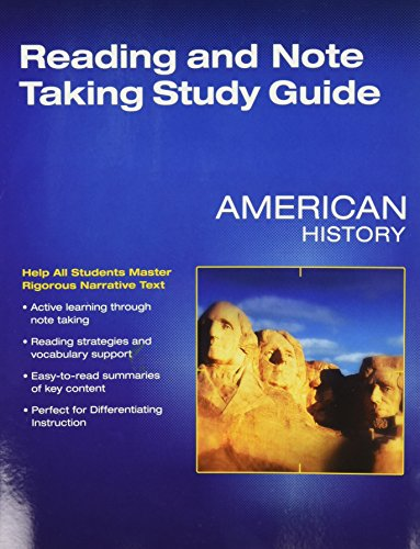 9780328880416: Middle Grades American History 2016 Reading and Notetaking Study Guide Grade 8