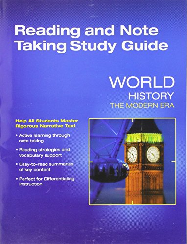 9780328880478 WORLD HISTORY 2016 MODERN ERA READING AND
