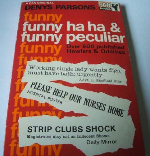 9780330016995: Funny Ha Ha and Funny Peculiar