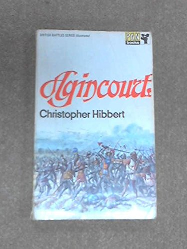 9780330021425: Agincourt (British Battles)