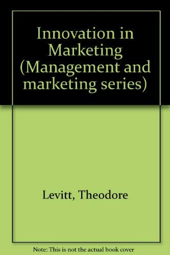 9780330021777: Innovation in Marketing (Management and marketing series)