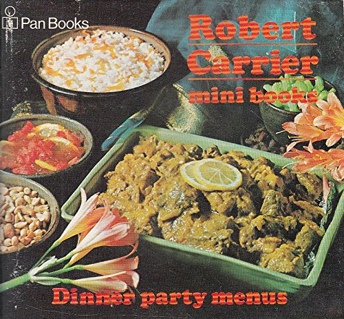 MINI BOOKS - DINNER PARTY MENUS (0330028553) by ROBERT CARRIER