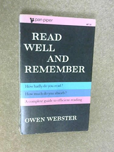 9780330231367: Read Well and Remember