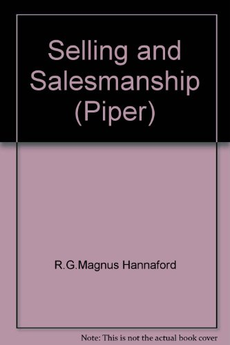 9780330231534: Selling and Salesmanship (Piper)