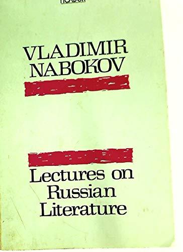 9780330269742: Lectures on Russian Literature: Chekhov, Dostoevski, Gogol, Gorky, Tolstoy, Turgenev (Picador Books)