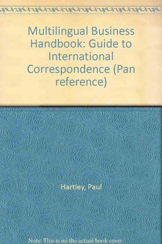 9780330281010: Multilingual Business Handbook: Guide to International Correspondence (Pan reference)