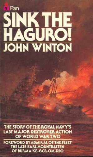 9780330281393: Sink the Haguro! The Last Destroyer Action of the Second World War