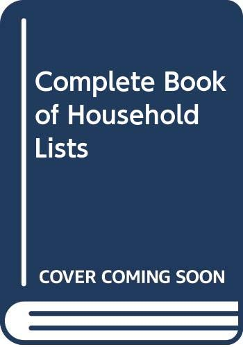 9780330281843: Complete Book of Household Lists