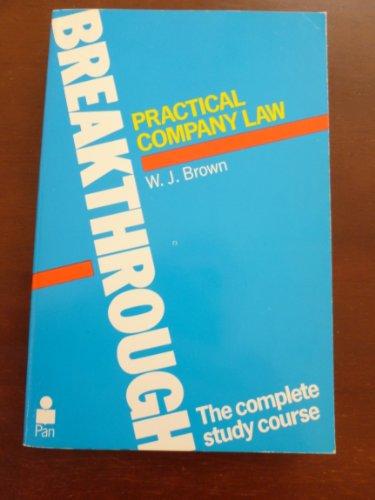 9780330282031: Practical Company Law (Breakthrough Books)