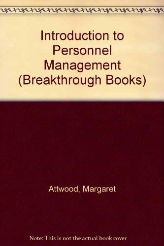 9780330285902: Introduction to Personnel Management (Breakthrough Books)