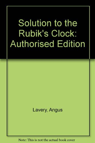 9780330308663: Solution to the Rubik's Clock: Authorised Edition
