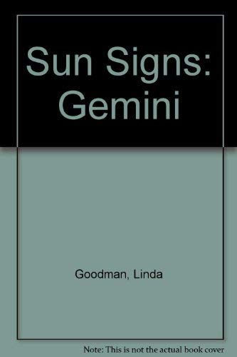 Sun Signs: Gemini (9780330310024) by Linda Goodman