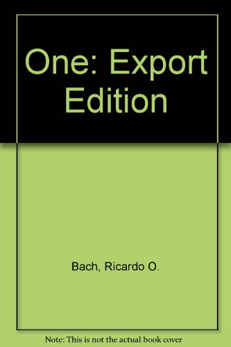 9780330313575: One: Export Edition