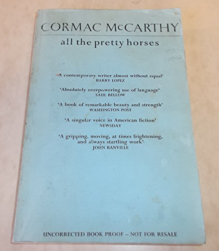 All the Pretty Horses; The Crossing; The Cities of the Plain-FIRST PRINTINGS: McCarthy, Cormac