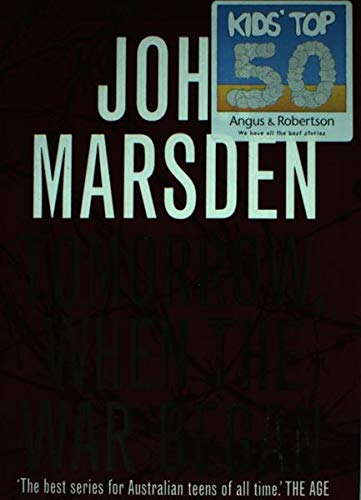 essay on tomorrow when the war began by john marsden Tomorrow, when the war began is the first of seven of the tomorrow series the book is about group of seven australian teenagers against an enemy whose forces have invaded their country and imprisoned their families.