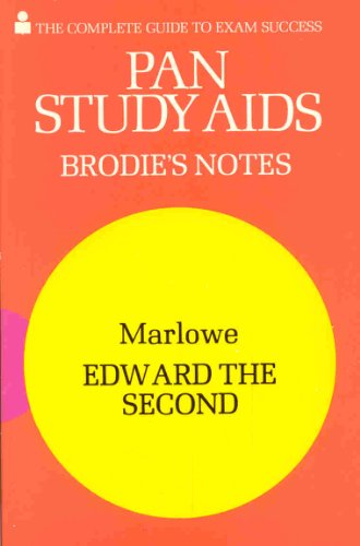 9780330501729: Brodie's Notes on Christopher Marlowe's Edward II (Pan study aids)