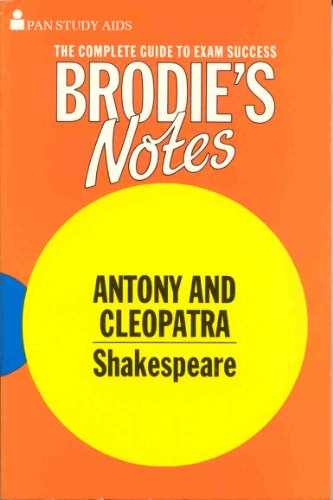 9780330501989: Brodie's Notes on William Shakespeare's