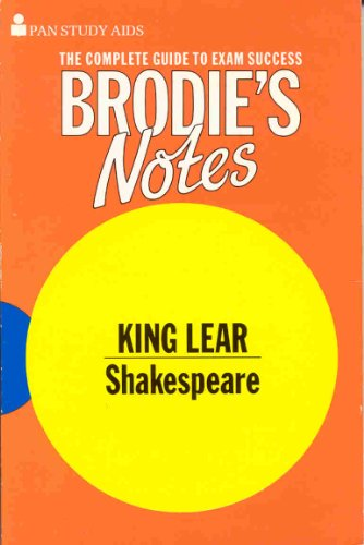 9780330502009: Brodie's Notes on William Shakespeare's