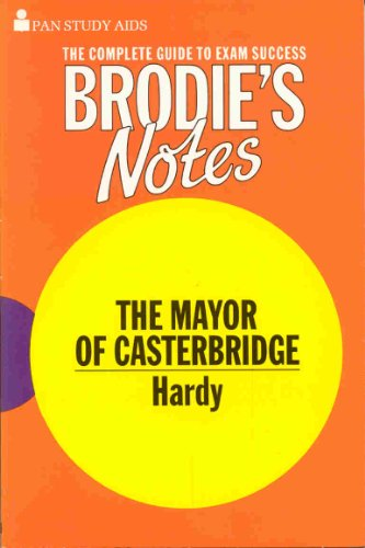 9780330502092: Brodie's Notes on Thomas Hardy's