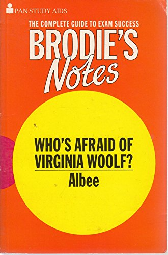 """9780330502733: Brodie's Notes on Edward Albee's """"Who's Afraid of Virginia Woolf?"""""""