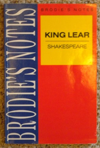 "9780330502825: Brodie's Notes on William Shakespeare's ""King Lear"" (Pan study aids)"