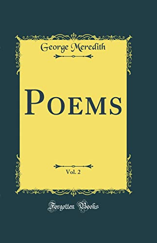9780332486000: Poems, Vol. 2 (Classic Reprint)