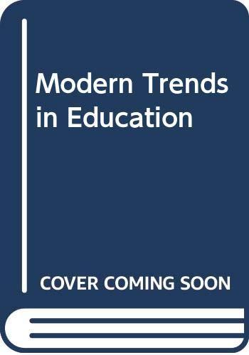 9780333010891: Modern Trends in Education