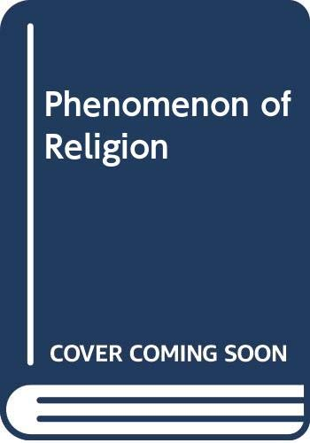 9780333015810: The Phenomenon of Religion (Philosophy of Religion series)