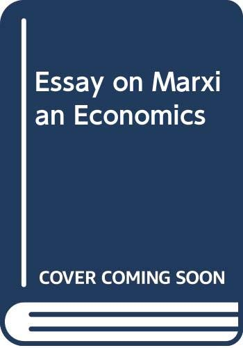 9780333020814: Essay on Marxian Economics