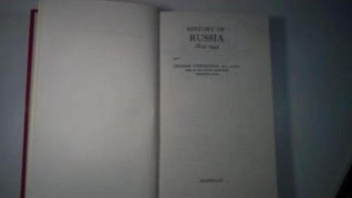 9780333030677: History of Russia, 1812-1945