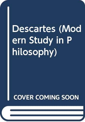 9780333039328: Descartes (Modern Study in Philosophy)