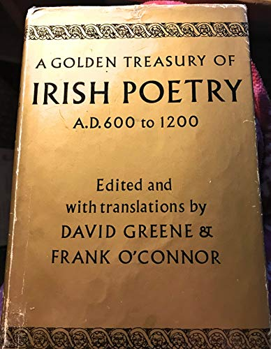 9780333045039: Golden Treasury of Irish Poetry, A.D.600-1200